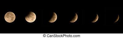 Winter Solstice Lunar Eclipse 2010 - Image showing seven...