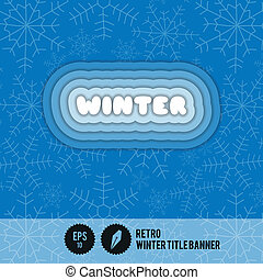 winter, spandoek, retro, titel