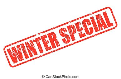 WINTER SPECIAL RED STAMP TEXT