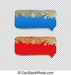 Winter Speech Bubble With Snowflake Border Transparent Background