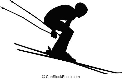 winter sport alpine skiing
