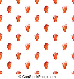 Winter sport glove pattern, cartoon style