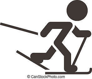 Cross-country skiing icon - Winter sport icon -...