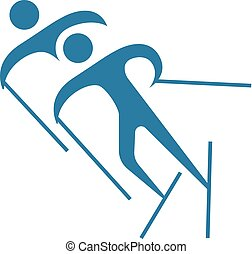 Cross country skiing Clipart and Stock Illustrations. 954 ...