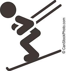 Downhill skiing - Winter sport icon - Downhill skiing
