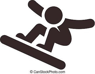 snowboard icon - Winter sport icon set - snowboard icon