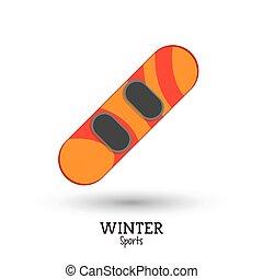 winter sport snowboard equipment