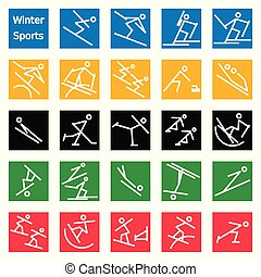 Winter Sport Stick Figures