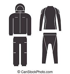 Winter Sport Suit Vector Illustration - Vector illustration...