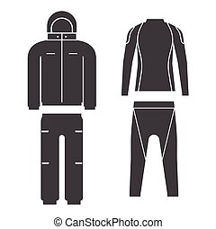 Winter Sport Suit Vector Illustration