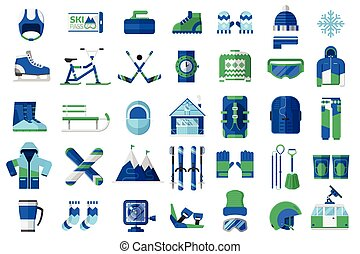 Winter Sports and Activity Icons