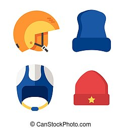 Winter Sports Head Wear Set - Winter sport head wear set. ...