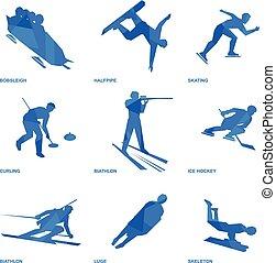 Winter sports icon set 1