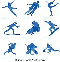 Winter sports icon set 2