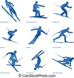 Winter sports icon set 3