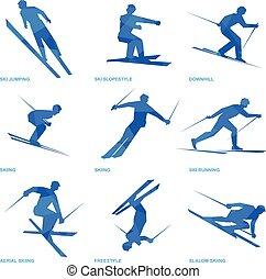Winter sports icon set 3