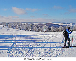 Winter sports in the Erzgebirge