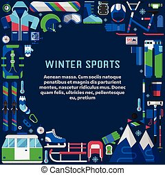 Winter Sports Lifestyle Border Frame