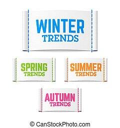 Winter, spring, summer trends label - Winter, spring, summer...