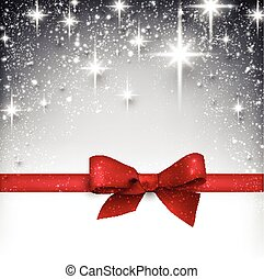 Winter starry christmas background. - Shiny silver starry...