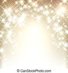 Winter starry christmas background. - Shiny starry christmas...