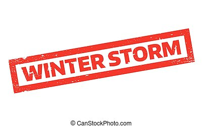 Winter Storm rubber stamp. Grunge design with dust...