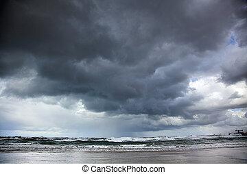 Winter Stormy Sea