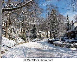 winter, straße, 3