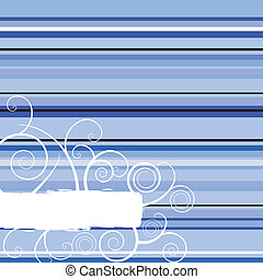 winter stripe blue