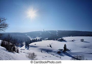 Winter sun in the Erzgebirge