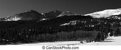 Winter Sun on Longs Peak