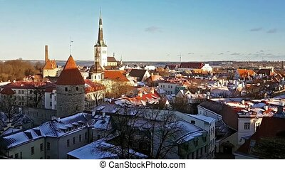 Winter Tallinn from observation deck Kohtuotsa - Winter...