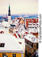 Winter Tallinn - Beautiful view to winter Tallinn, Estonia