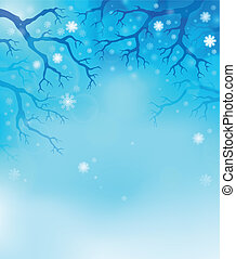 Winter theme background 1