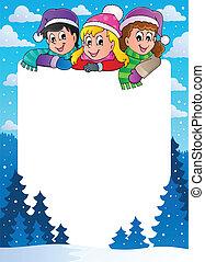 Winter theme frame 1