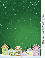 Winter theme with Christmas town image 5