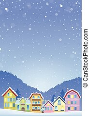 Winter theme with Christmas town image 6