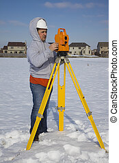 Winter time surveying
