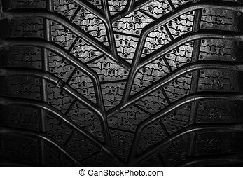 Texture of car tire tread.