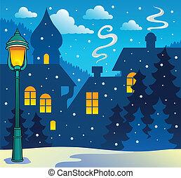 Winter town theme image 3