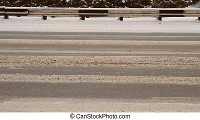 Winter track, highway
