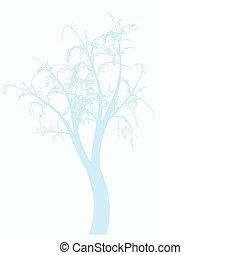 Winter tree - Abstract winter tree isolated on black...