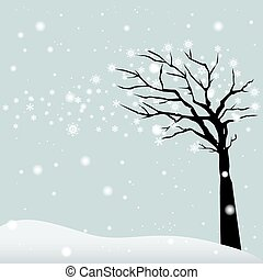 Winter Tree - abstract winter tree on a special background