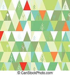 Winter tree background in geometric simple style
