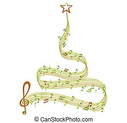Winter tree clipart and stock illustrations 161206 winter tree winter tree of music voltagebd Images