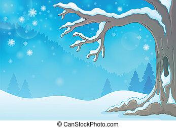 Winter tree theme image 3