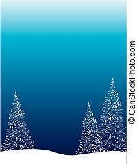 Winter Treescape Background for Invitation or Poster