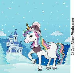 Winter unicorn theme image 3