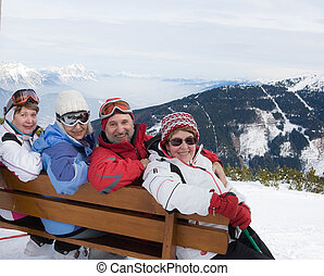 Winter vacation in the mountains