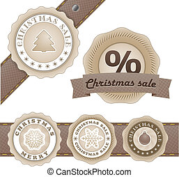 Winter vector vintage labels